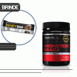 Monster Maca (120 Caps) + Whey Bar Low Carb (40g)